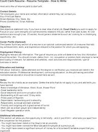 Sample Resume For Court Clerk Position Professional Resume Templates