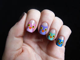 Owl Nail Art | Kiss and Make Up