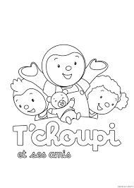T Choupi Et Ses Amis Est Un Coloriage De T Choupi