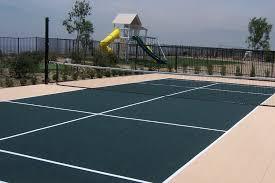 Building A Backyard Multi Sport Game Court  Building A Backyard Backyard Tennis Court Cost