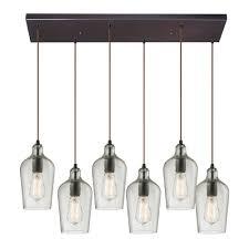 drop lighting. ELK 10331-6RC-CLR Hammered Glass Modern Oil Rubbed Bronze Multi Drop Ceiling Light. Loading Zoom Lighting P