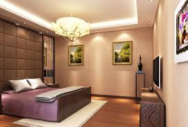 contemporary hanging lamp above double bed plus high headboard