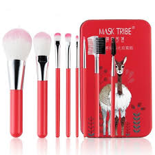 8pcs professional makeup brush set tool with pouch bag red intl philippines