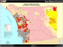 cal fire  san diego county fhsz map