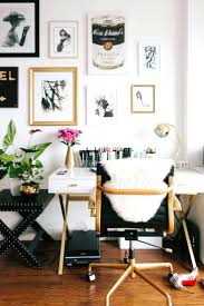 stylish home office space. Gallery Wall White And Gold Desk Inspiration Office Interior Design Decor Ideas Creative Space Stylish Home G
