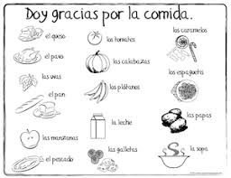 Small Picture Coloring Pages In Spanish Spanish Thanksgiving Vocabulary Coloring
