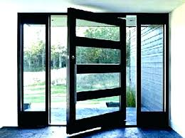 double entry doors with glass image of modern front double door mid century entrance doors designs