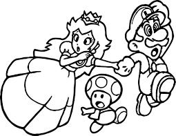 Small Picture Super Mario Princess Mushroom Coloring Page Wecoloringpage