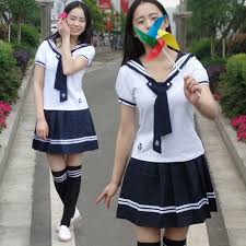 New style Japan and South Korea Uniforms Men and women ...