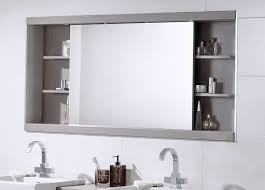 white bathroom mirror with shelf. large bathroom mirror with shelf above double sink vanity in white wall tiles s