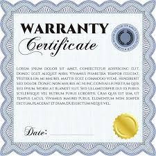 Limited Warranty Certificate Template Free Word Jaxos Co