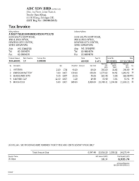 Tax Invoice Examples Tax Invoice Template
