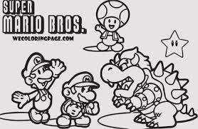 Mario Bros Kleurplaat Kleurplaat Vor Kinderen 2019