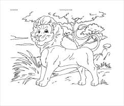 Printable PDF of Lion Free Download lion drawing template 15 free pdf documents download free on template pdf download