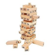 How To Play Tumbling Tower Wooden Block Game Wooden Tumbling Tower Blocks Garden Game Outdoor Family Party 3
