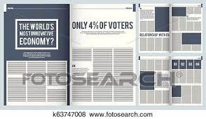 Magazine Layout Mockup Template Of Modern Magazine