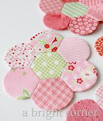 Paper Piecing Flower A Bright Corner Hexdens And English Paper Piecing
