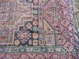 vintage rug 4 5 rare pink and slate blue persian lamarr
