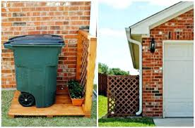 8 sneaky ways to hide an ugly trash can outdoor your garbage cans