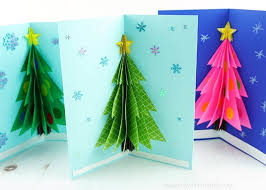 How To Make A Christmas Star With Chart Paper How To Make A 3d Christmas Card