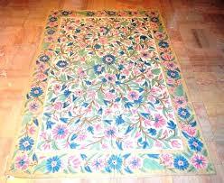 hand crafted rugs hand crafted rugs hand made wool chain stitch rug fl handmade crochet rugs