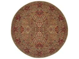karastan rugs original empress kirman 8 8 round red area rug