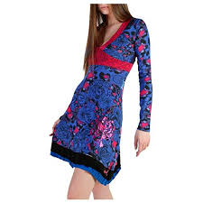 Desigual Dress Size Chart Amazon Com Desigual 49v2221_5036_bluette Fuxia Dresses