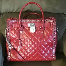 53% off Michael Kors Handbags - Sold. Michael kors hamilton ... & Michael kors hamilton grommet NS red quilted Adamdwight.com