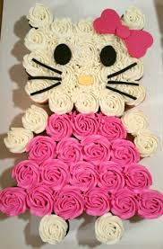 Hello Kitty Best Birthday Pull Apart Cupcake Cakes Simple Creative