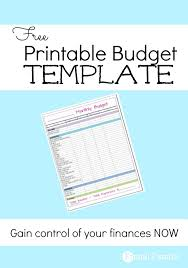 Free Monthly Budget Template - Frugal Fanatic