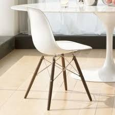molded fibergl side chair with wood legs natural american walnut steel wires matte white fibergl s