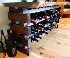 Wine storage table Silver Custom Walnut Wine Storage Rack Also Serves As Table In This Dining Room Newwoodworks Wine Rooms Newwoodworks