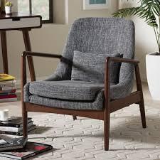 mid century modern sitting chairs. baxton studio dixon modern grey fabric upholstered lounge chair mid century sitting chairs r