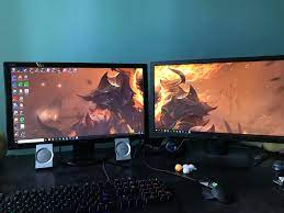 Problems with my dual monitor screen ...