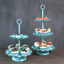 How To Display Cupcakes Without A Stand Interesting 322 32 Ters Blue Cake Holder Cupcake Stand Birthday Wedding Party