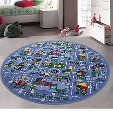 kids baby room daycare classroom playroom area rug great for playing with cars city map