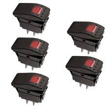 illuminated rocker switch 5x12v led on off illuminated rocker 4pin waterproof switch car boat marine red 1