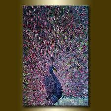 pea modern oil painting textured palette knife contemporary original animal art by willson lau