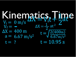 physics kinematics 1 d horizontal motion solve for time no 1 you