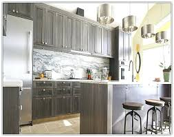 gray stained kitchen cabinets grey finish