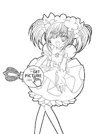 Shugo Chara Funny Anime Coloring Pages For Kids Printable Free
