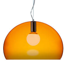 kartell fl y pendant lamp orange