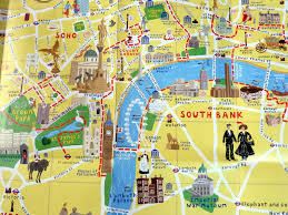download map of london landmarks  major tourist attractions maps