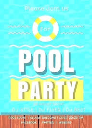 Free Pool Party Invitation Guluca