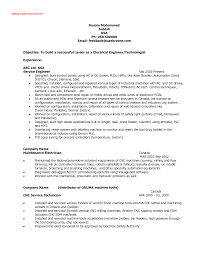 Mechanical Electrical Engineer Sample Resume Electrical Resume Templates Memberpro Co Objective Statement For 5