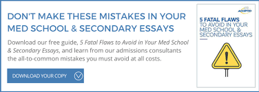 medical school sample essay the runner  5 fatal flaws in your med school application to avoid other sample essays