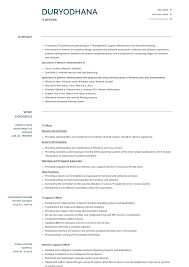 Cv Exemplars It Officer Resume Samples And Templates Visualcv