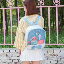 Childrens Designer Bags Us 18 68 46 Off 2019 Transparent Backpacks Women Lovely Japanese Harajuku Bag Female Summer Itabag Girls Designer Ita Bags Ladies School Bolsa In