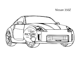 Small Picture car Nissan 350Z coloring page cool car printable free