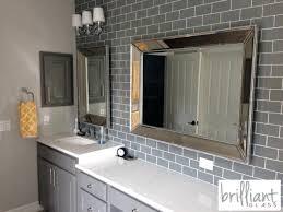 bathroom gray subway tile. Gray Glass Subway Tile Ocean Installed Bathroom Kitchen Backsplash .